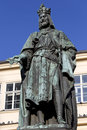 Bronze Statue of the eleventh King of Czech and Roman Emperor Charles IV. in Prague, , Czech Republic Royalty Free Stock Photo