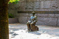 Bronze statue of fdr in wheelchair a wheel chair at the memorial washington dc Royalty Free Stock Photography