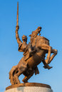 Bronze statue of King Svatopluk, Bratislava, Slovakia