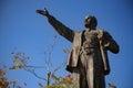 Bronze statue of Lenin Royalty Free Stock Photo