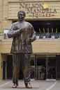 Bronze statue of nelson mandela johannesburg march on march in johannesburg the erection this marked the th anniversary Stock Photo