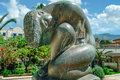 Bronze Statue Of Nude Woman In...
