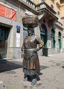 """Bronze statue of peasant market woman called """"Kumica Barica"""" at Dolac market. Zagreb"""