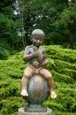 Statue Frantisek - Attribute of the spa town Frantiskovy Lazne Royalty Free Stock Photo