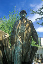 Bronze statue of Vladimir Lenin by Emil Venkov, Slavic artist, Seattle, WA Royalty Free Stock Photo
