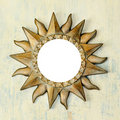 Bronze sun frame Royalty Free Stock Photography