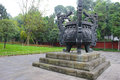 Bronze tripod in chengdu Royalty Free Stock Photo
