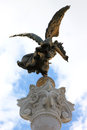 Bronze victory angel in Rome, Italy Stock Photos