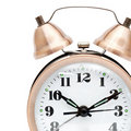 Bronze vintage alarm clock Stock Photo