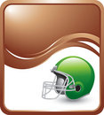 Bronze wave backdrop with green football helmet Royalty Free Stock Photo