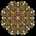 brooch jewelry, design element. Geometric vintage ornam