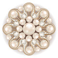 brooch jewelry, design element. pearl vintage ornamenta