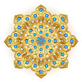 brooch jewelry, design element. Tribal ethnic floral
