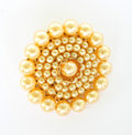 Brooch on white. Royalty Free Stock Photo