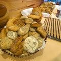 Brood en broodjesbuffet Royalty-vrije Stock Fotografie