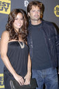 Brooke Burke and David Charvet on the red carpet Stock Photography