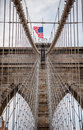 Brooklin bridge game of cable on Royalty Free Stock Image