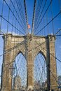 Brooklin bridge, New York Stock Images