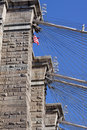 Brooklyn Bridge Detail Royalty Free Stock Images