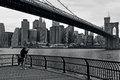 Brooklyn bridge in manhattan new york city nyc oct photographer photographs on oct it s one of the oldest suspension bridges the Royalty Free Stock Photo