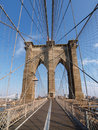 Brooklyn Bridge in New York. Royalty Free Stock Photo