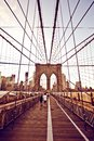 Brooklyn Bridge in New York Royalty Free Stock Photo
