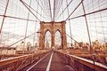 Brooklyn Bridge in New York Royalty Free Stock Image