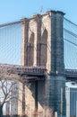 Brooklyn bridge and new york cit y manhattan skyline Royalty Free Stock Photo