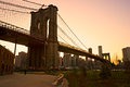 Brooklyn bridge, New York City. Stock Photos
