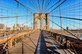 Brooklyn Bridge, New York City, nobody Royalty Free Stock Photo