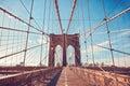 Brooklyn Bridge in New York City, NY, USA Royalty Free Stock Photo