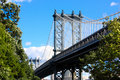 Brooklyn bridge new york the is a in city and is one of the oldest suspension bridges in the united states Royalty Free Stock Photo