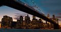 Brooklyn bridge new york city and skyline across the east river Stock Photography