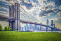 Brooklyn bridge new york usa Stock Photography