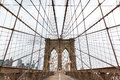 Brooklyn Bridge, nobody, New York City USA Royalty Free Stock Photo