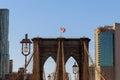 Brooklyn Bridge, nobody, New York City USA Royalty Free Stock Photo