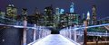 Brooklyn bridge park walkway in Stock Photos