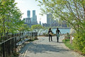 Brooklyn Bridge Park Waterfront New York City Stock Photo