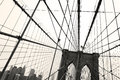 Brooklyn Bridge, Sepia Royalty Free Stock Photo