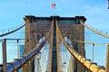 Brooklyn Bridge Simetry Royalty Free Stock Photo