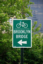 Brooklyn Bridge street sign Royalty Free Stock Photos