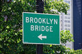 Brooklyn bridge street sign Royalty Free Stock Image