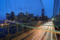 Brooklyn Bridge Traffic Royalty Free Stock Photos