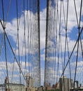 Brooklyn Bridge Web Royalty Free Stock Photo