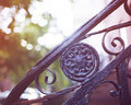 Brooklyn heights fences vintage in Royalty Free Stock Photo