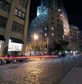 Brooklyn NYC at night, New York City Royalty Free Stock Photo