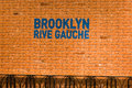 Brooklyn rive gauche sign at printemps paris display a popup store within one of france s premier retail stores editorial Stock Photo