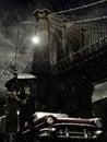 Brooklyn under rain