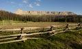 Brooks Lake Breccia Cliffs Mountain Range Shoshone National Fore Royalty Free Stock Photo