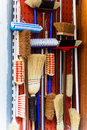 Broom cupboard cabinet with different kinds of Royalty Free Stock Images